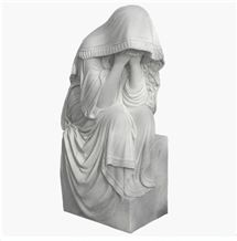 Top Grade Tombstone Statue, China White Marble Tombstone