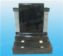 Shanxi Black Gravestone in Irish Style, Shanxi Black Granite Gravestone