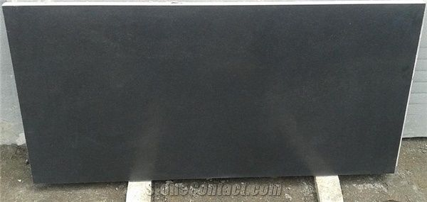 Absolute Black Granite Honed Dark Black Granite From