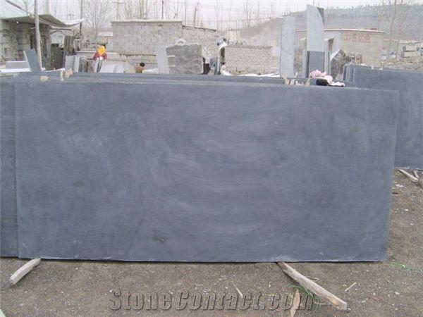 China Blue Stone Slab Honed Surface China Blue Limestone