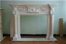 White Fireplace, Stone Fireplace