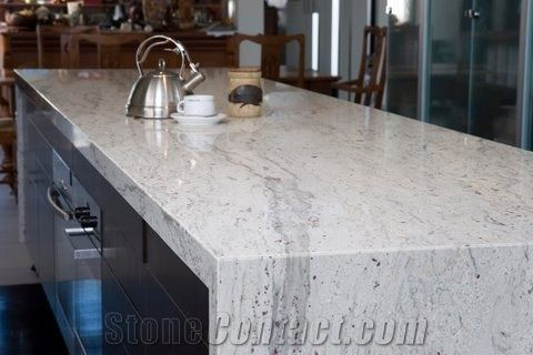 Stream White Granite Countertop