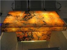 Afterglow Onyx Glass Table (J26)