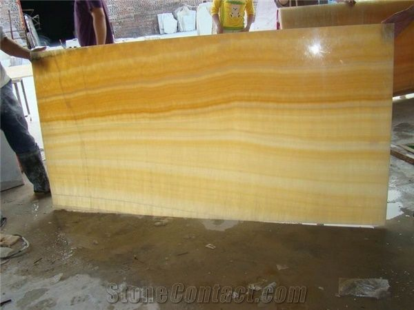 Backlit Honey Onyx Glass Slabs From China Stonecontact Com