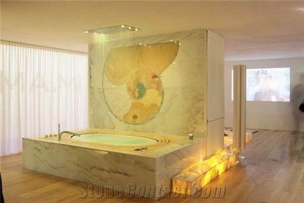 Backlit Onyx Bath Tub Deck Surround J99 From China