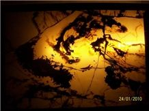Backlit Onyx Glass Decoration Z-26
