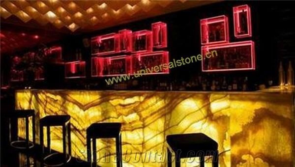 Backlit Orange Onyx Glass Bar Tops from China ...