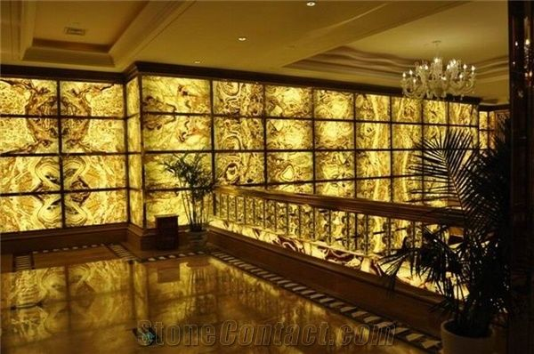 Backlit Snow Dragon Onyx Glass Wall Z12 From China
