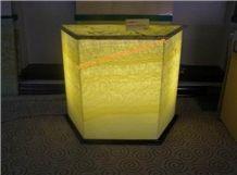 Lighted Honey Onyx Countertop (Z06)