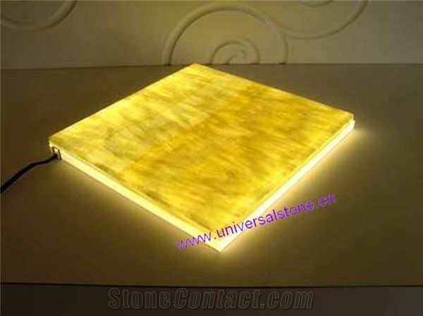 Lighted Honey Onyx Countertop (Z06)
