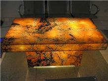 Translucent Afterglow Onyx Glass Table(Z10)
