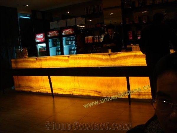 Translucent Honey Onyx Bar Tops From China Stonecontact Com