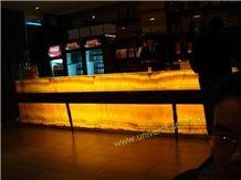 Translucent Honey Onyx Bar Tops