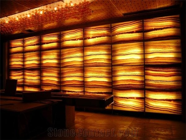 Translucent Onyx Glass Wall J114 From China