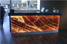 Translucent Red Onyx Glass Countertops(Z-27)