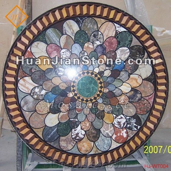 Marble Inlay Round Mosaic Table Top From China