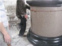 G681 Granite Column, G681 Yellow Granite Column