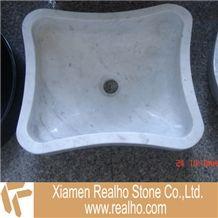 Carrara White Marble Wash Basin