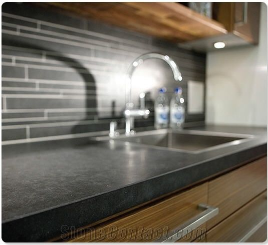 Honed Black Granite Kitchen Countertops Boalt Black