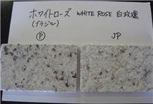 White Rose Granite Tile, Brazil White Granite