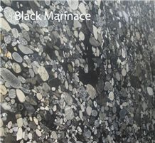 Black Marinace Granite Slabs, Brazil Black Granite