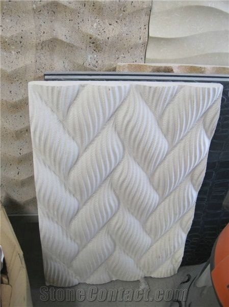 3d Cnc Natural Stone Carving Walling Panel From China