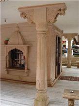 Sandstone Carved Columns, Bansi Pink Sandstone