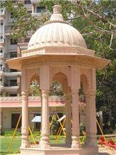 Sandstone Gazebo, Rajpura Pink Sandstone