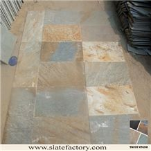 Beige Green Quartzite Wall Tiles