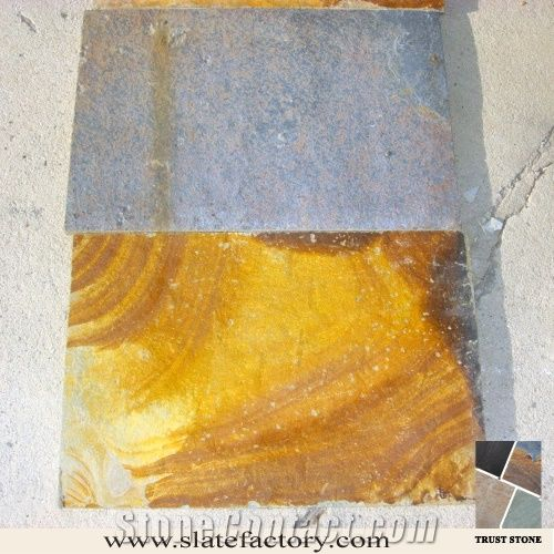Cheapest Patio Flooring: Cheap Price Chinese Peacock Rustic Slate Patio Flooring
