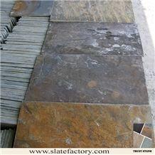 Colorful Slate Wall Slate Tile, Rusty Slate Tiles