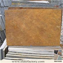 Gold Slate Tile for Floor Tile, Rust Slate Tiles