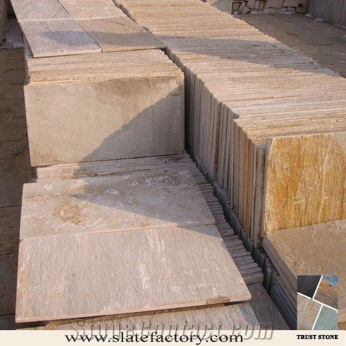 Golden White Quartzite Tile From China