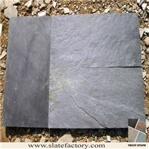 Natural Slate Tile for Flooring, China Black Slate