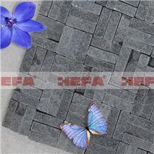 Deep Grey Cheap Mosaic Tiles XMD013A, Esite Grey Basalt Mosaic