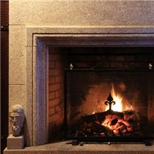 Fireplace, Crema Champan Beige Granite