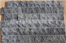 Split Face Natural Stone Ledge, Storm Black Marble Cultured Stone