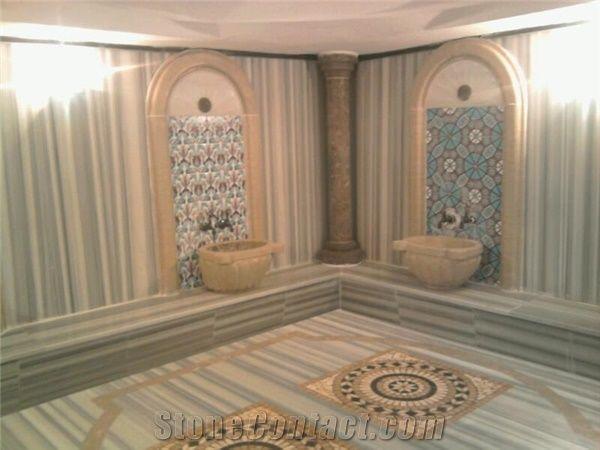 Turkish Hammam Marmara White Marble Bath Design From