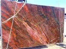 Brazil Red Fire Granite Slab