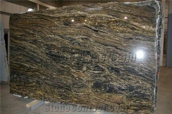 Brazil Stormy Night Granite Slab Good Polished From China