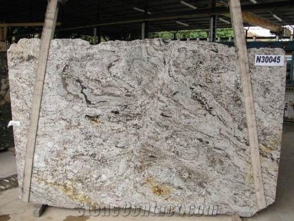 Brazil White Spring Granite Slab Good Price From China