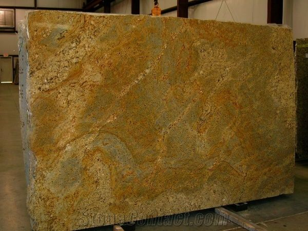 Brazil Yellow River Granite Slab Own Factory From China