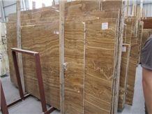 China Yellow Wood Grain Marble Slab(low Price)