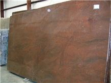 Polished Chocolate Brown Granite Slab(own Factory)