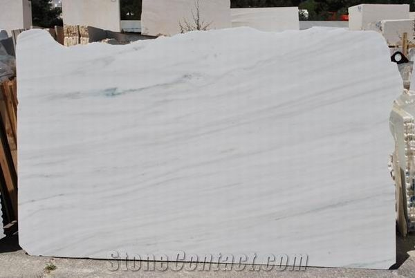 Polished Pentelikon White Marble Slab Own Factory From