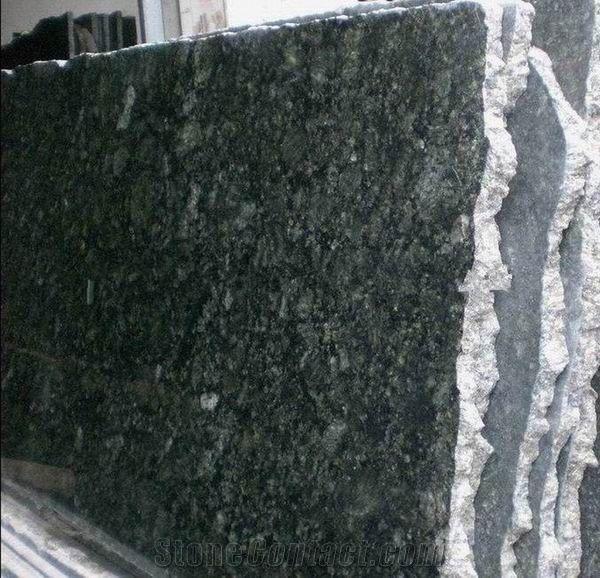 Ubatuba Granite: Polished Verde Uba Tuba Granite Slab From China