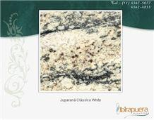 Juparana Classico White Granite Slabs, Brazil White Granite