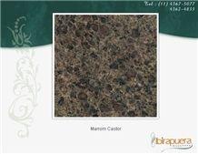 Marrom Castor Granite Slabs, Brazil Brown Granite