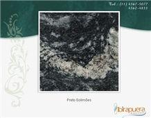 Preto Solimoes Granite Slabs, Brazil Black Granite
