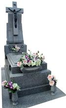 Grey Quintana Granite Monument, Gris Quintana Oscuro Fino, Granite Mausoleum & Columbarium